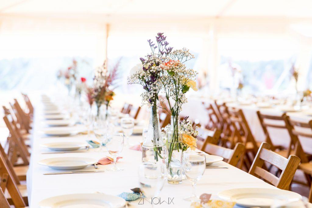 decoration ceremonie naturelle boheme fleurs des champs