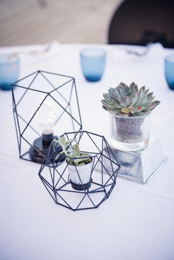decoration mariage geometrique