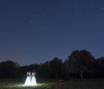 mariage original decoration lumiere etoiles bleu nuit